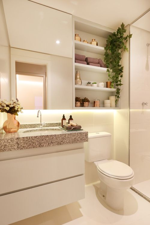 25+ melhores ideias sobre Armario de banheiro pequeno no Pinterest  Armario  -> Banheiros Simples E Chique