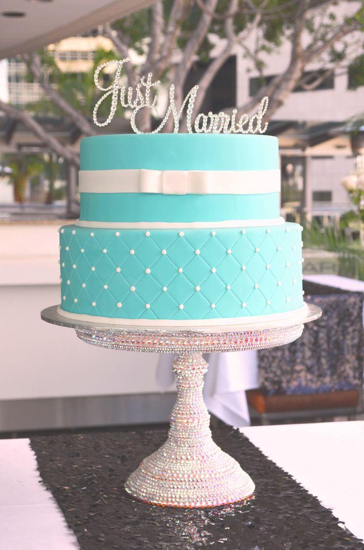 Wedding Cake, fondant tiffany blue