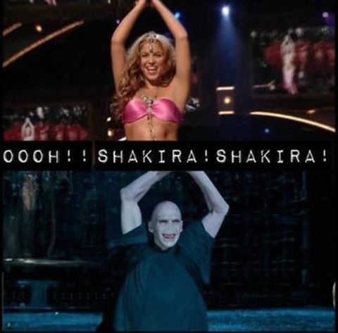 OOOH Shakira! Shakira! I've never read HP or seen the movies, but this is hilarious.