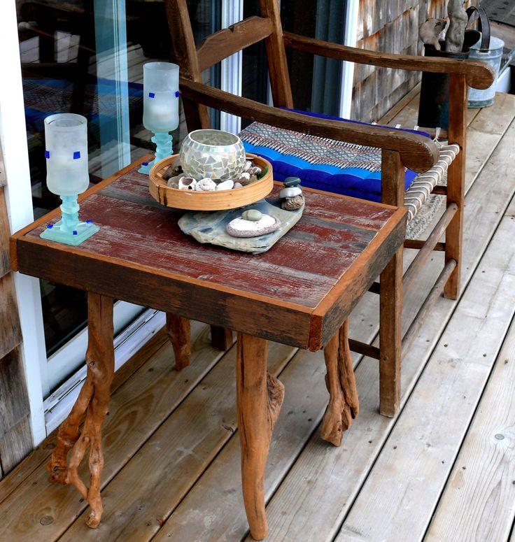Table en bois de la boutique Recytrucs sur Etsy
