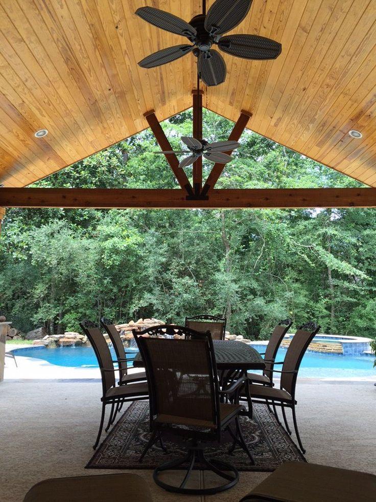 Backyard Paradise   Magnolia, TX, United States. Gable Roof Patio Cover  Attachedu2026
