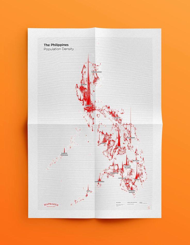 Population densities in the Philippines