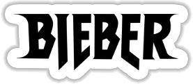 Justin Bieber - Logo Sticker