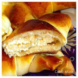 CsillaG sütöde: Túrós kifli  (vékony tészta, sok túró )