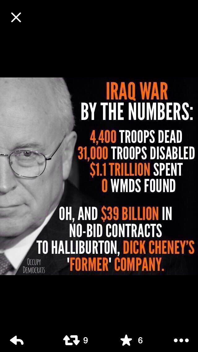 War is a racket & the only ones who win are the profiteers.  #CheneyTreason