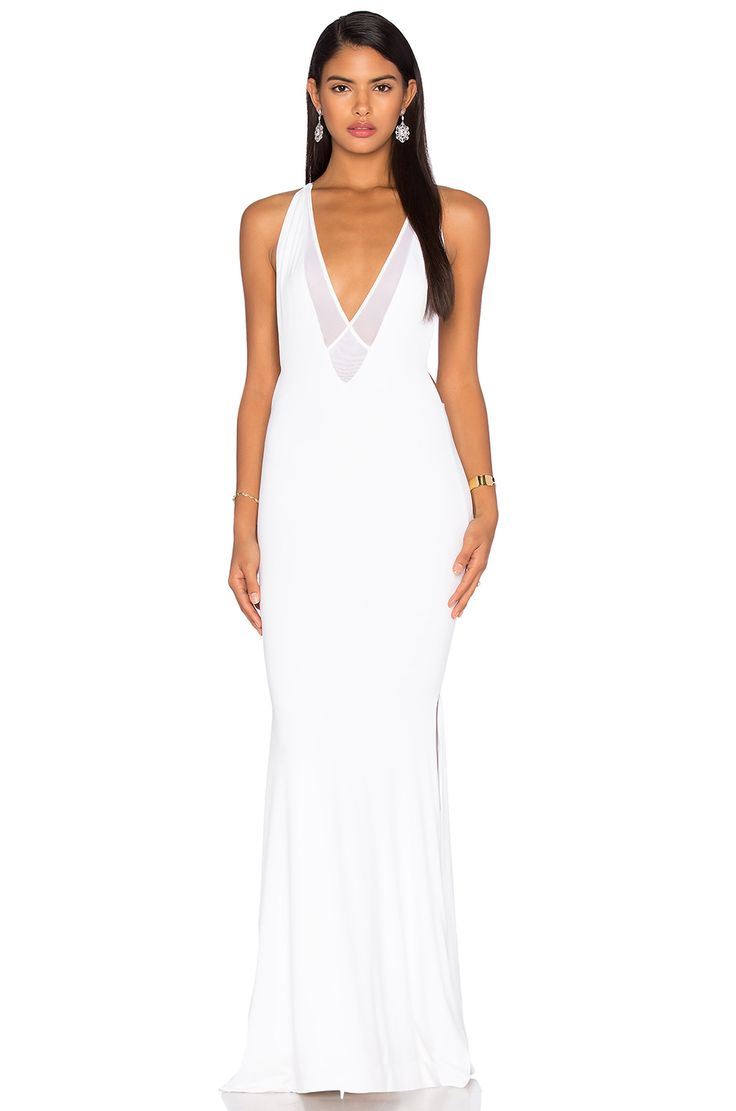 Casual flowy white dress fashion style 2015 - Gemeli Power Dupeyroux Jersey Gown In White