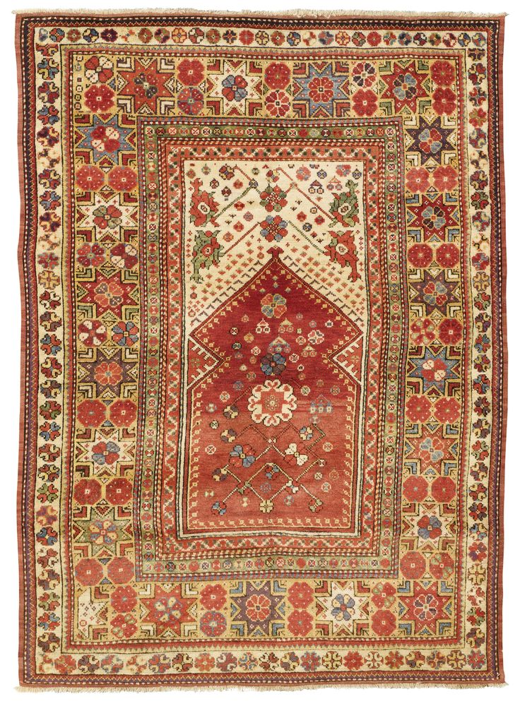Melas prayer rug, Southwest Anatolia  approximately 5ft. 4in. by 3ft. 10in. (1.62 by 1.17m.)  last quarter 19th century I Sotheby's