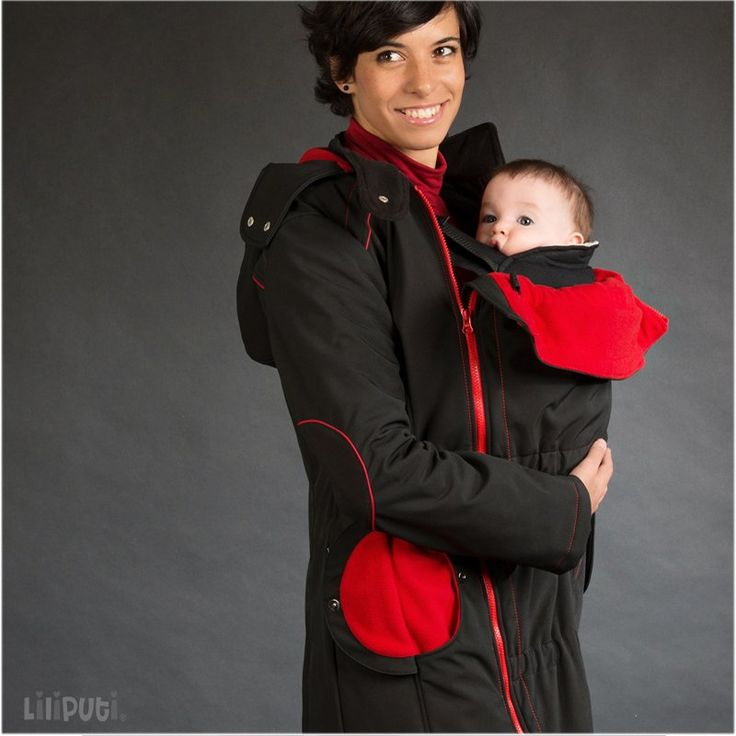 Liliputi® Babywearing Mama Coat Black-red
