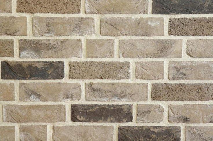 Handform-Riemchen NF grau-beige-bunt Klinker-Riemchen Fassadenkleberiemchen