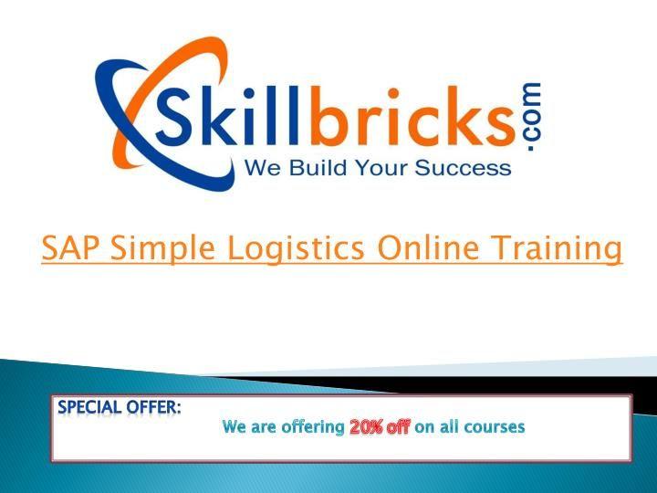 Sap simple logistics online training