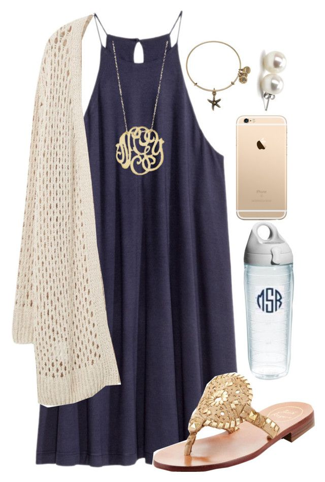 """""""going to a parr-tayyy later"""" by nc-preppy-living ❤ liked on Polyvore featuring Violeta by Mango, Ginette NY, Bounkit, Jack Rogers, Tervis and Alex and Ani"""