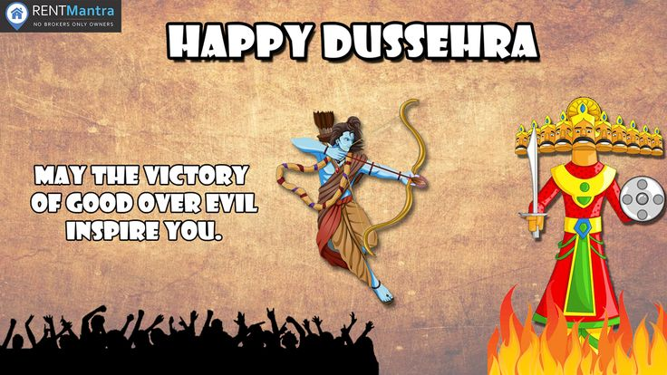 RentMantra Wishes You Happy Dussehra. Celebrate The Victory Of The Forces Of Good Over The Evil. #HappyDussehra #victoryofgood #rentmantra #Brokerfree #Noida