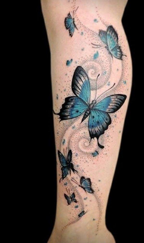 coole tattoos tattoo schmetterlinge am bein