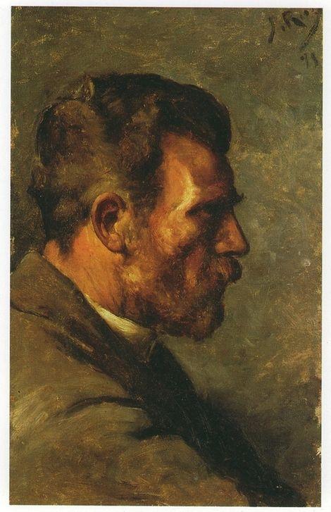"Pablo Picasso, Father's painter Face of Profile (""Don José Ruiz de Perfil""), 1895 on ArtStack #pablo-picasso #art"