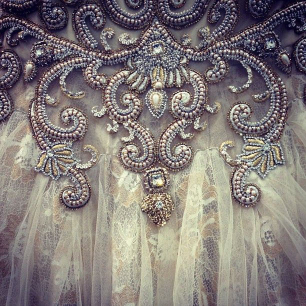 gorgeous beading detail