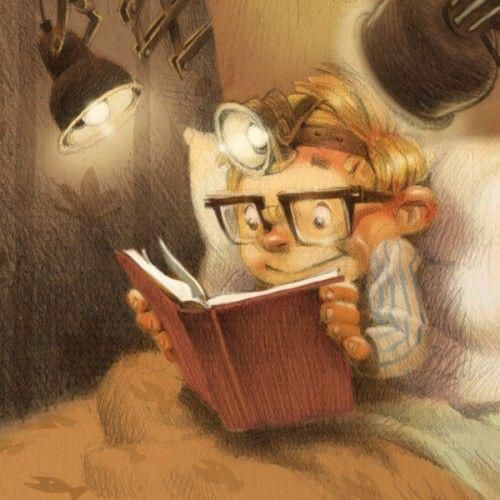 Head Lamp Reading   Valerie Fabbretti