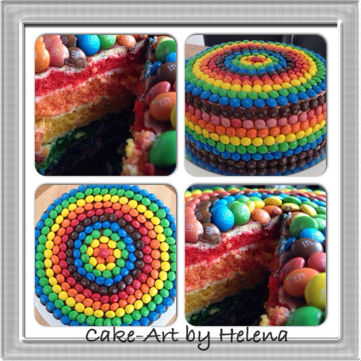 Rainbow mm's cake