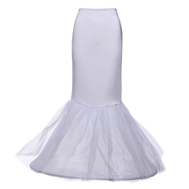 Crinoline Jupon jupe Petticoat mariage sirene robe de mariee Noce blanc wedding Taille M: Amazon.fr: Vêtements et accessoires