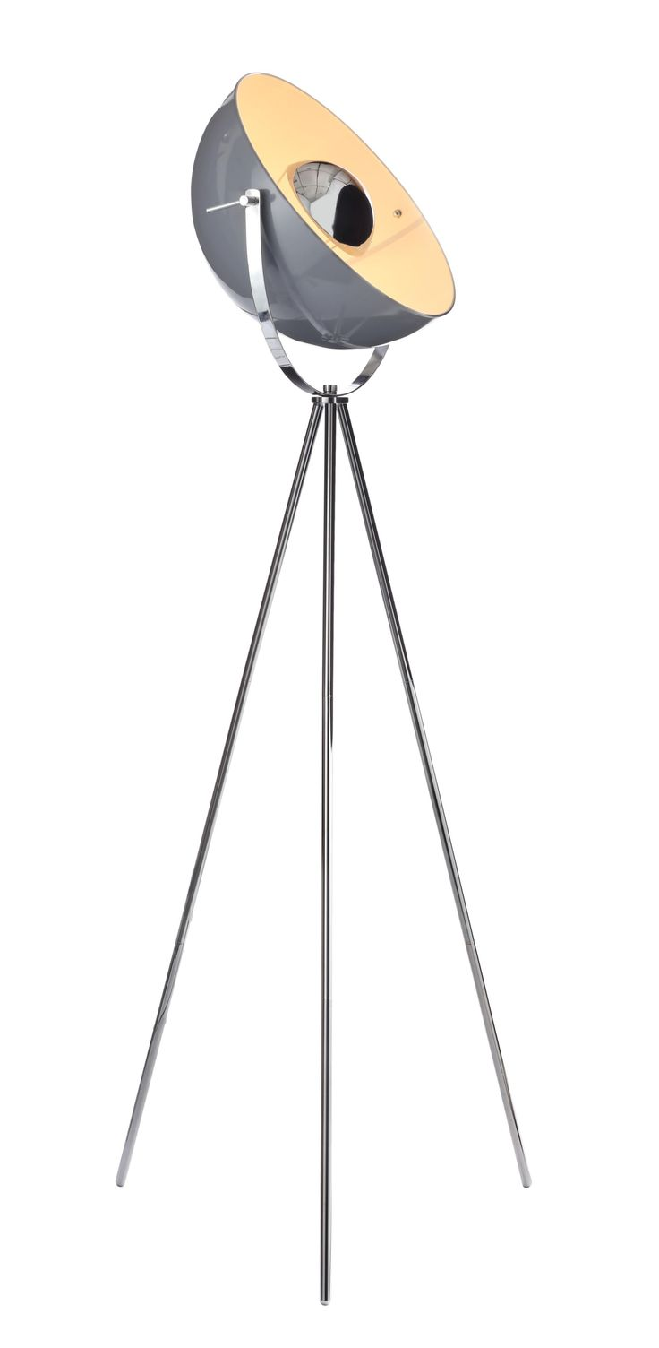 Alboran Tripod Chrome Effect Floor Lamp | Departments | DIY at B&Q