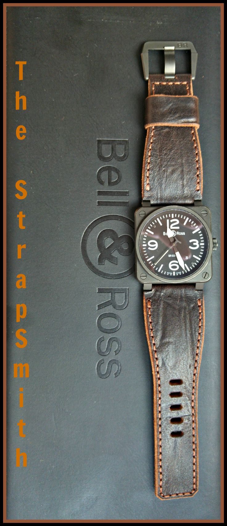 Dark Chocolate looking good on the Bell & Ross! TheStrapSmith.com