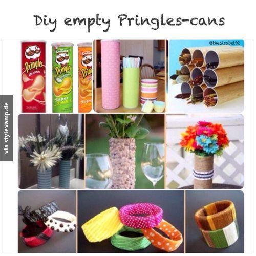 DIY: Leere Pringles-Dosen