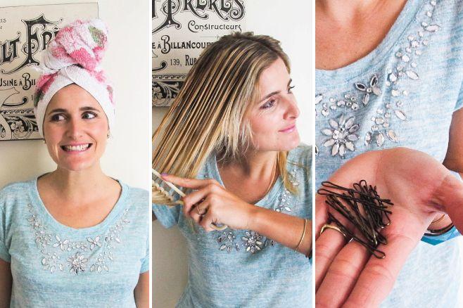 Cuando salgas de bañarte hacé torzadas con tu pelo y sostenelas con clips. #StreetHair #BeautyHair