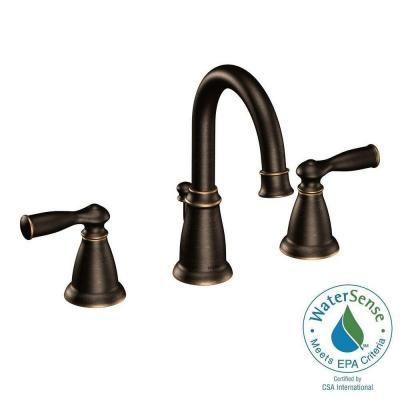 MOEN Banbury 8 in. Widespread 2-Handle Bathroom Faucet in Mediterranean Bronze-CA84924BRB - The Home Depot