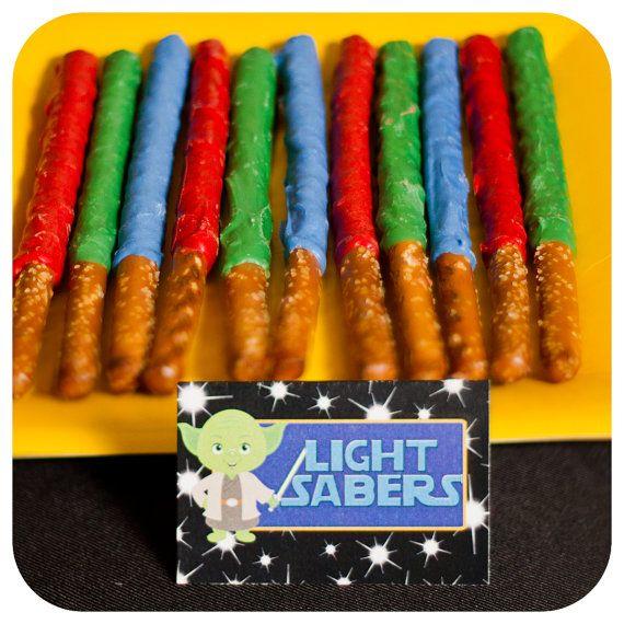 Star Wars Cupcake Food Labels; Star Wars Birthday Food Label Tent Cards decor; Star Wars decor; Star Wars Party; Star WarsParty Decor