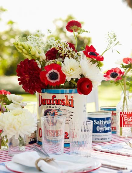 Easy red white and blue decorating ideas