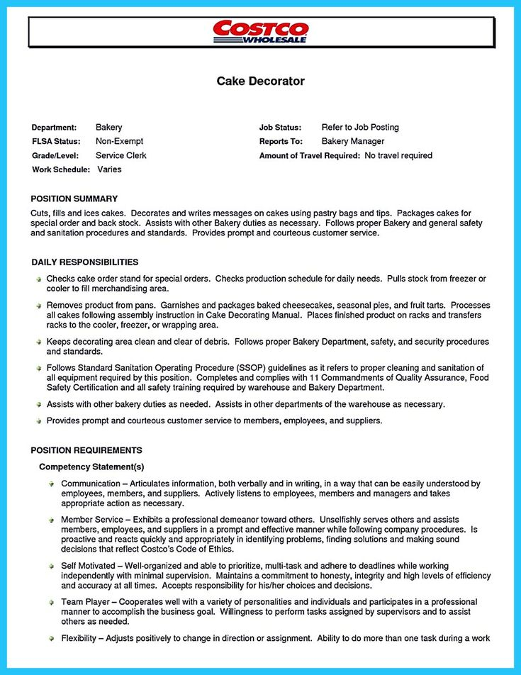 Awesome Flawless Cake Decorator Resume To Guide You To