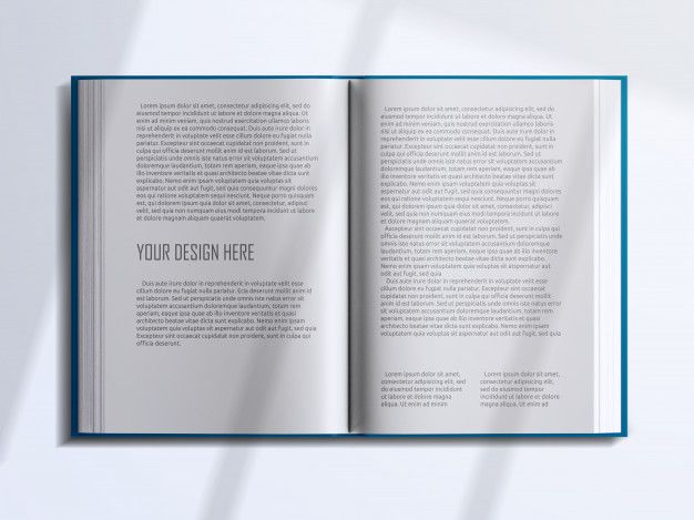 Realistic Top View Opened Book Pages With Shadow Overlay Mockup Open Book Book Cover Mockup Minimalist Book