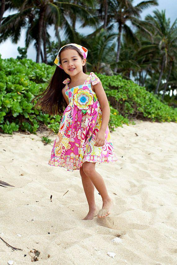Little Girl Dress  Girls Sundress  Childrens by PalmTreePrincess, $47.95