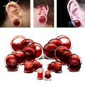 1Pair Blood Red Liquid Filled Double ...