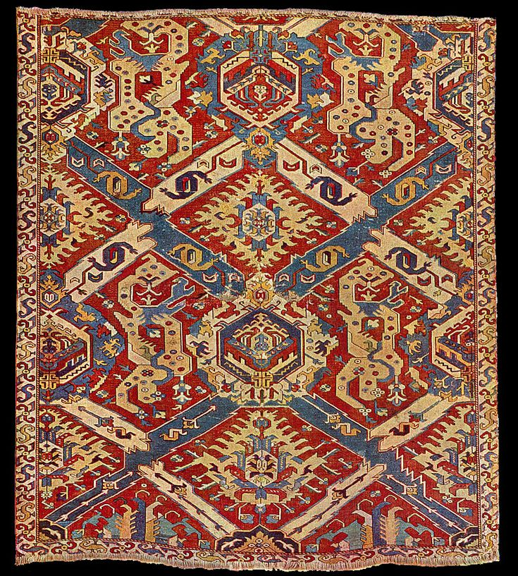 Victoria And Albert Museum Early Dragon Rug, 18th Cenury, Safavid Period,  Possibly Karabagh