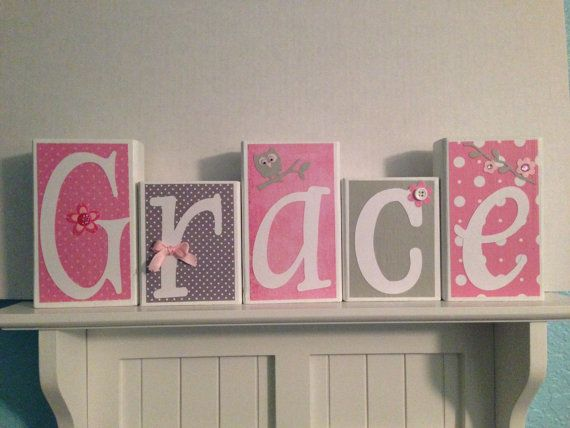 Personalized Name / Decorative Wooden Block by NicsLoveLetters, $30.00
