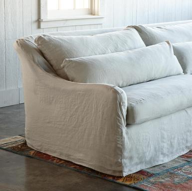 Nob Hill sofa in a pretty linen slipcover ... so coastal cottage.