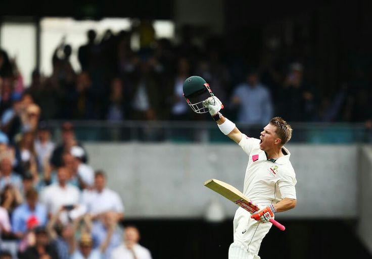#Australian cricketer David warner slams century before Lunch on 3rd January 2017 against #pakistan.  #cricket #icc