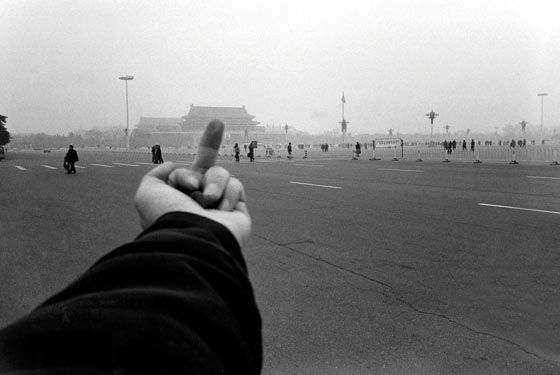 "Ai Weiwei completed the ""Study in Perspective"" series from 1995 to 2003 and captured his defiant middle finger in front of seats of political or cultural power in Paris, Washington DC, Berlin, Beijing and Hong Kong.Photo Courtesy of Ai Weiwei"