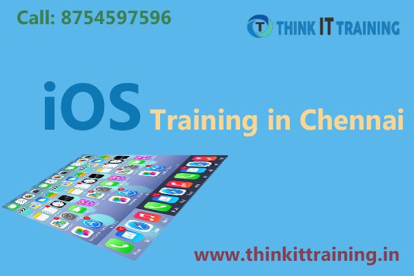 Think IT provides ios training in chennai students to learn swift programming and objective- C are basics to develop the ios. We offer job placement and certification are provided in our training institute. http://www.thinkittraining.in/ios-training