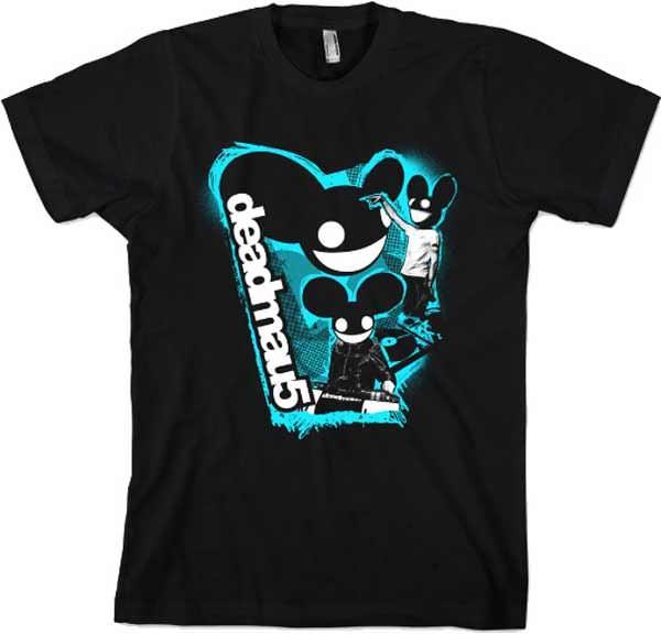 T-Shirt Deadmau5 intégrant la célèbre tête de souris du DJ Set. #logostore #deadmau5