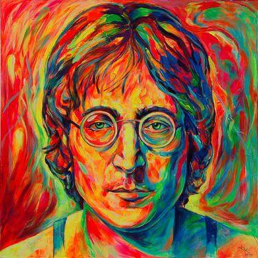 "Saatchi Art Artist Margarita Kriebitzsch; Painting, ""John Lennon Portrait"" #art"