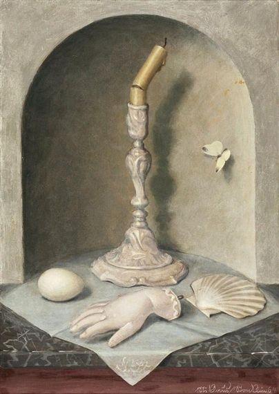 Niklaus Stoecklin, Stillleben mit Vanitas-Symbolen, 1964