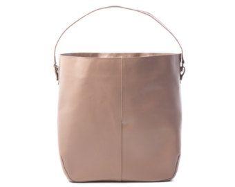 Borsa Tote in pelle grigia grigio Tote borsa delle donne