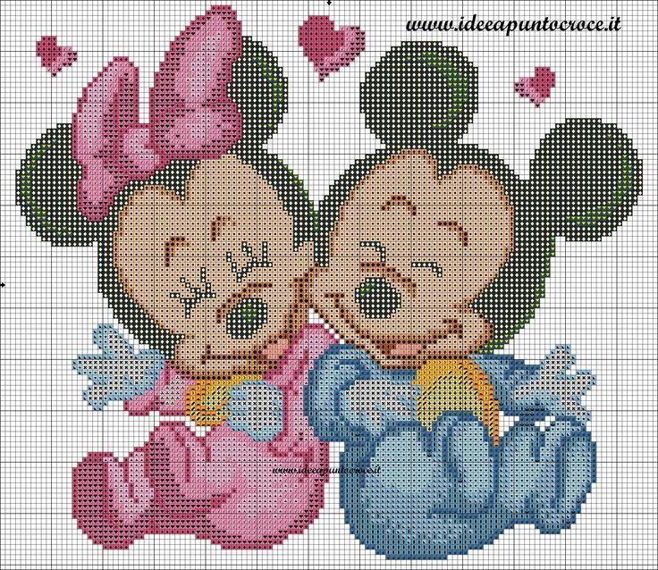Grille bébé minnie et Mickey