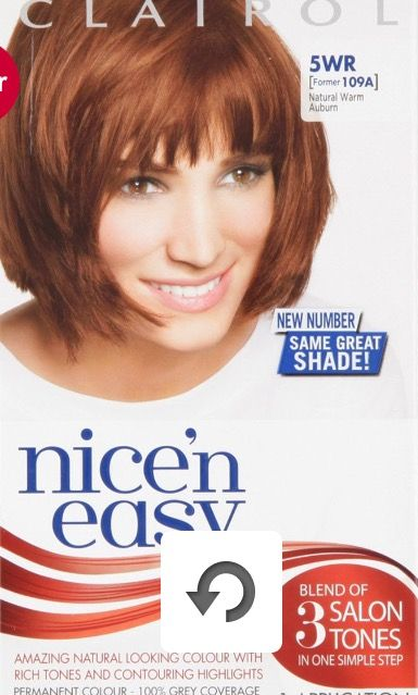 Clairol Nice N Easy Natural Warm Auburn 5wr In 2019