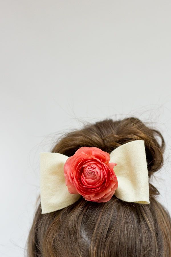 DIY Fresh Flower Hair Bows