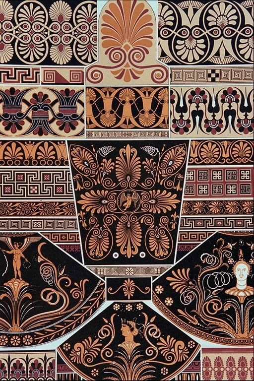 ancient greek pottery patterns