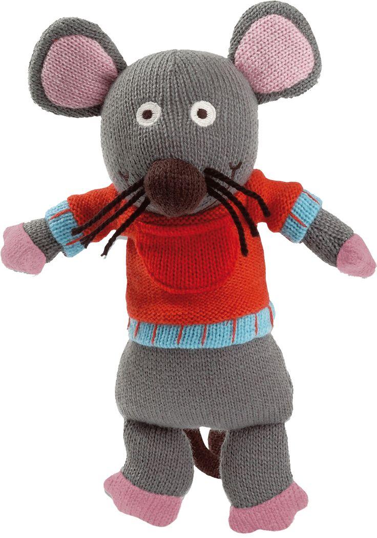 Marie la souris des personnages de la Wooly Family par Latitude Enfant. Jouet ludique. Doudou d'éveil. Produit de puériculture.