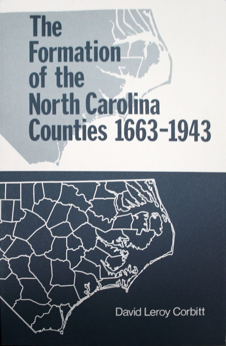The Formation of the North Carolina Counties
