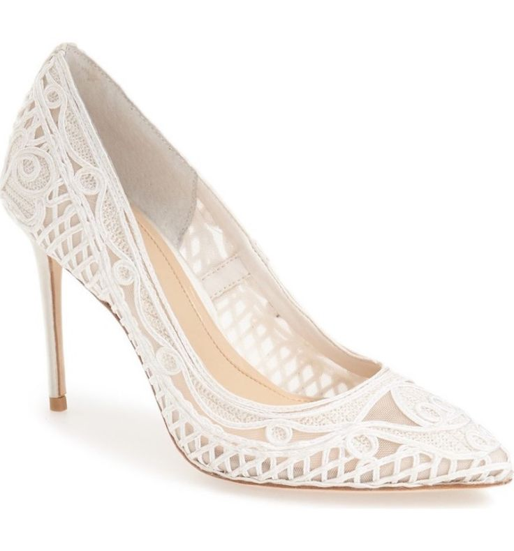 White bridal shoes that are oh so original: http://www.stylemepretty.com/2017/05/22/bridal-white-wedding-shoes/